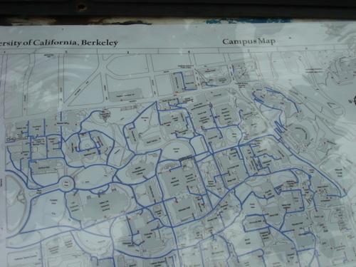UCバークレーのキャンパスマップ