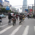 上海の夕方の通勤ラッシュ