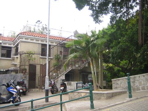 マカオ 丘の上のポルトガルっぽい家