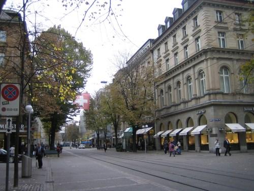 チューリッヒのダウンタウン